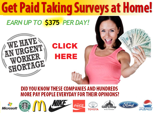 Get paid for taking surveys at home